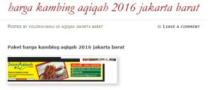 paket harga kambing aqiqah 2016